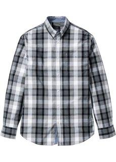 Рубашка Regular Fit с длинным рукавом (серый/белый/антрацитовый) Bonprix