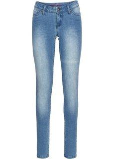 Джинсы Skinny, низкий рост (K) (голубой) Bonprix