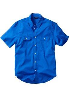 Рубашка Regular Fit с короткими рукавами (лазурный) Bonprix