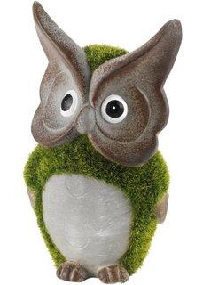 Декоративная фигурка Сова со мхом (зеленый/серый) Bonprix