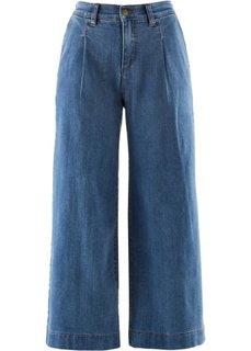 Широкие джинсы длины 7/8 (синий «потертый») Bonprix
