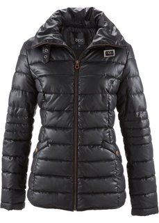 Стеганая куртка с воротником-стойкой (черный) Bonprix