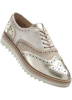 Туфли от Marco Tozzi на шнуровке (золотистый металлик) Bonprix