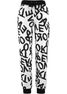 Трикотажные брюки (белый/черный) Bonprix