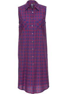 Удлиненная блузка (синий/темно-красный в клетку) Bonprix