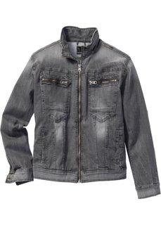 Джинсовая куртка-стретч Regular Fit (серый) Bonprix
