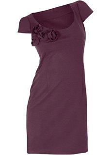 Трикотажное платье (баклажановый) Bonprix