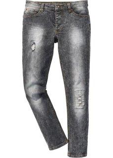 Джинсы-стретч Skinny, длина (в дюймах) 32 (черный мраморный) Bonprix