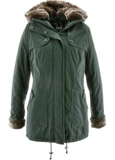 Зимняя куртка с меховой отделкой (зеленый русский) Bonprix