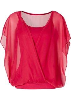 Трикотажная блузка (горячий ярко-розовый) Bonprix