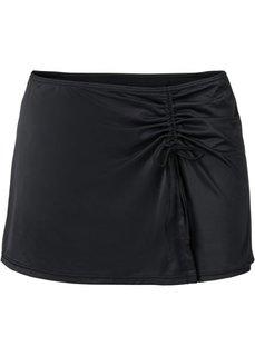 Купальные плавки + юбка (2 изд.) (черный) Bonprix