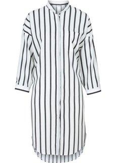 Рубашка (черный/цвет белой шерсти в полоску) Bonprix