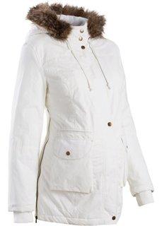 Мода для беременных: куртка с капюшоном (цвет белой шерсти) Bonprix