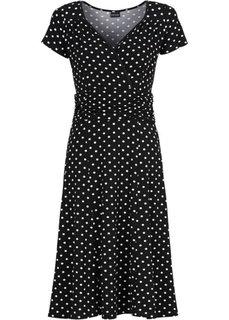Платье (черный/белый в горошек) Bonprix