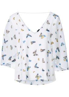 Блузка (цвет белой шерсти с рисунком) Bonprix