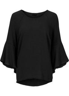 Абсолютный хит: блузка с расклешенными рукавами (черный) Bonprix