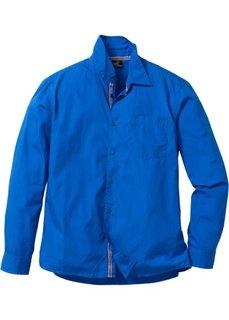 Рубашка с длинным рукавом, стандартный покрой (лазурный) Bonprix