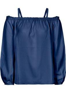 Блузка с открытыми плечами (ночная синь) Bonprix