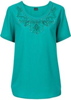 Блузка с прорезями (темно-изумрудный) Bonprix
