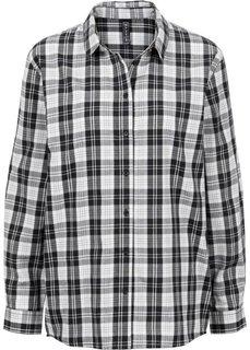 Рубашка (цвет белой шерсти/черный в клетку) Bonprix