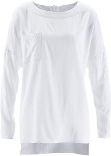 Блузка с застежкой-молнией сзади (цвет белой шерсти) Bonprix