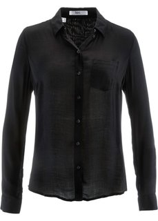 Рубашка с длинным рукавом (черный) Bonprix