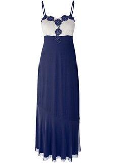 Вечернее платье макси (темно-синий/белый) Bonprix
