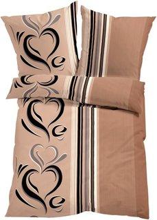 Постельное белье Касандра, линон (светло-коричневый) Bonprix