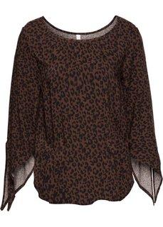 Классика гардероба: блузка (ржаво-красный с леопардовым рисунком) Bonprix