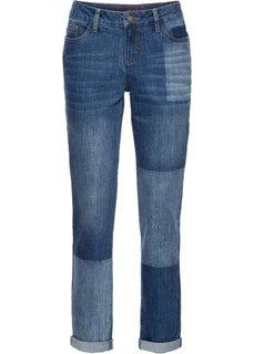 Джинсы мужского фасона с имитацией заплаток (синий) Bonprix
