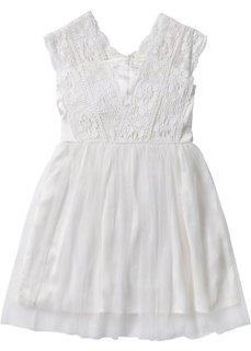 Тюлевое платье с кружевом (кремовый) Bonprix