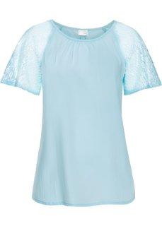 Кружевная блузка (полярно-мятный) Bonprix