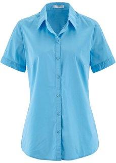 Блуза-рубашка с короткими рукавами (светло-голубой) Bonprix