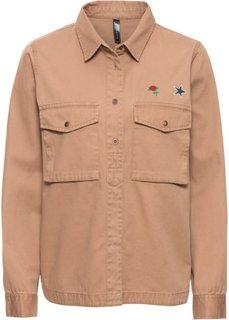 Армейская рубашка с эмблемами (верблюжий) Bonprix