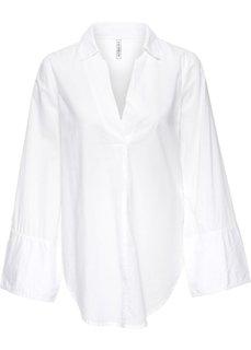 Блузка с широкими манжетами (белый) Bonprix