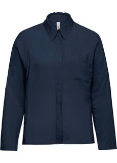 Прямая блузка (темно-синий) Bonprix