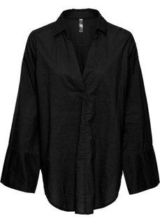 Блузка с широкими манжетами (черный) Bonprix