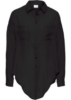 Блузка, завязывающаяся на узел (черный) Bonprix