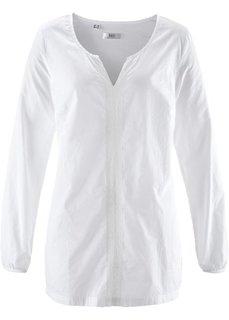 Блузка с длинным рукавом (белый) Bonprix
