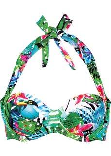Бюстгальтер для купального костюма, чашка B (зеленый с рисунком) Bonprix