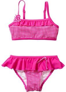 Купальник-бикини (ярко-розовый в клетку) Bonprix