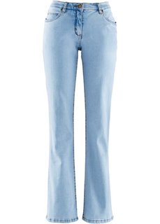 Джинсы стретч Bootcut, низкий рост (K) (голубой) Bonprix