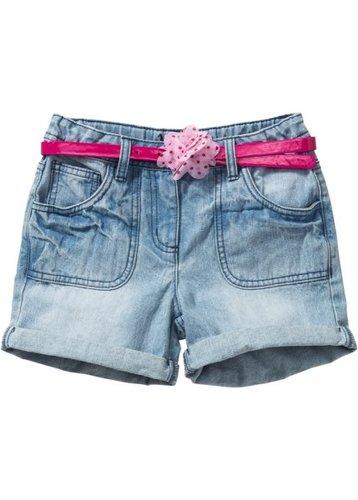 Джинсовые шорты и ремень (нежно-голубой выбеленный)
