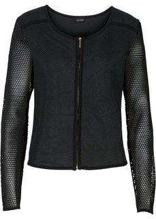 Куртка в сеточку (черный) Bonprix