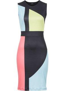 Платье с вырезом в области спинки (черный с рисунком) Bonprix