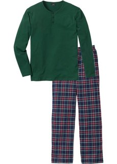 Пижама (темно-зеленый в клетку) Bonprix