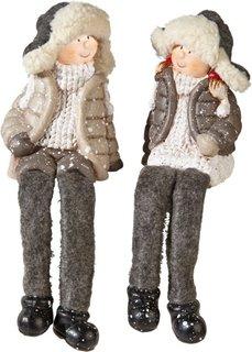 Декоративные статуэтки Ларс и Мими (2 шт.) (серый) Bonprix