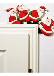 Наддверные фигурки Санта Клаус (красный/белый/зеленый) Bonprix