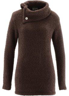Пушистый пуловер (темно-коричневый) Bonprix
