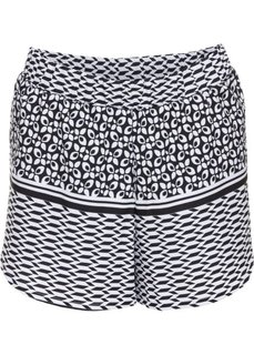 Пляжные шорты (черный/белый с узором) Bonprix